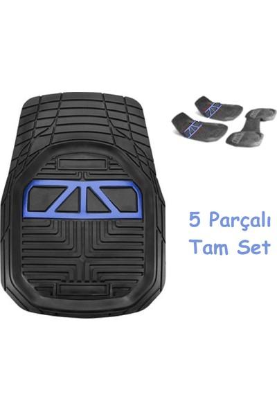 Vavka 2000 Model Ford Escort Için 4d Havuzlu Tip Universal Paspas - Mavi Kromlu