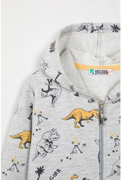Paty Kids Erkek Çocuk Dinozor Baskılı Hırka