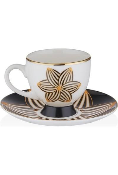 Gordion Ars 750 6 Kişilik Kahve Fincan Takımı Monochrome V1