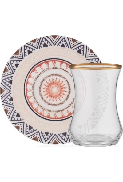 Gordion M06138 Ethnıc 6'lı Çay Bardak Takımı