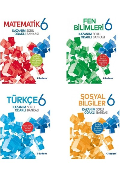 Tudem 6. Sınıf Matematik Fen Türkçe Sosyal Soru Bankası Seti