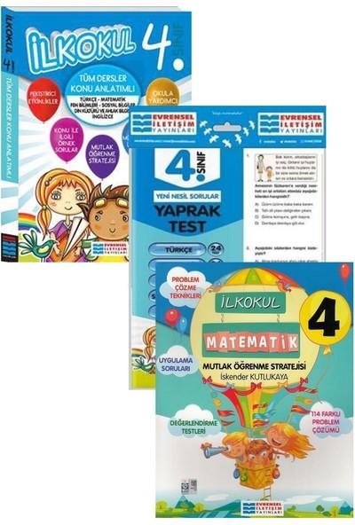Evrensel Yayınları 4. Sınıf Tüm Dersler Konu Anlatımı Matematik ve Yaprak Test Seti
