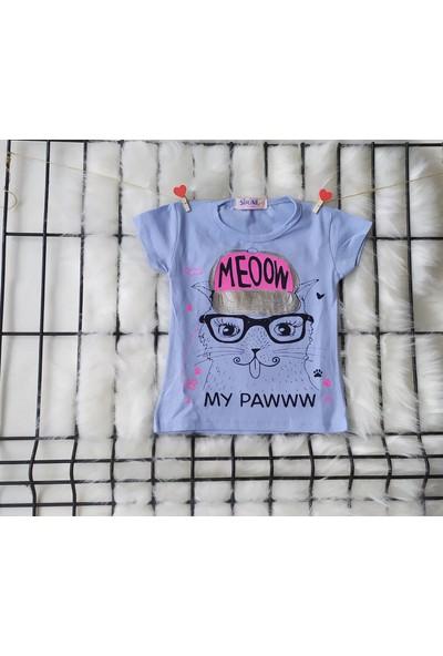 Şirine Kids Meoow Şapkalı Kedi Desenli T-Shirt