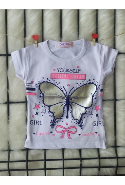 Şirine Kids Your Self Kelebek Baskılı T-Shirt