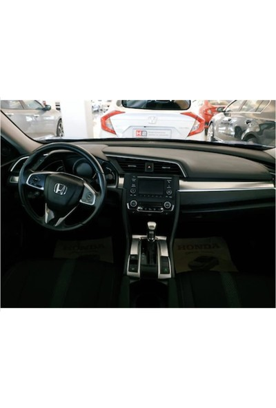 Autokit Honda Cıvıc FC5-FK7(2016+)ARAÇ Iç Kaplama Set 9 Parça(Silver-Gri)