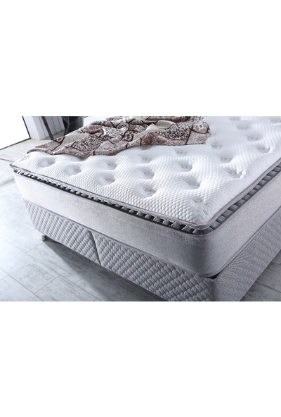 Royal Lüx Bedding Ritim Pedli Paket Yaylı Yatak 90X200