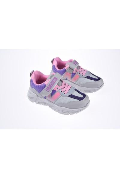 Carby Kız Ayakkabısı-Buz-Lila-Pembe