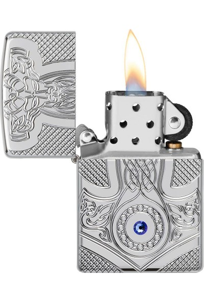 Zippo Çakmak 49289 Armor Medieval Design Lighter, Orta Çağ Tasarımı