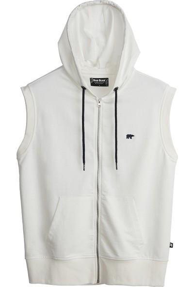 Bad Bear Erkek Kırık Beyaz Sweatshirt Trainer Full-Zıp Sweatshirt