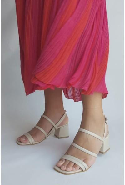 Zulu Kadın Kısa Kalın Topuklu Ayakkabı