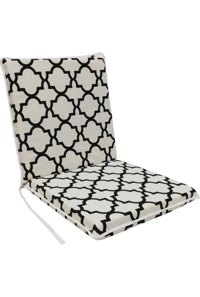 Vip Home Concept Sandalye Minderi 1 Adet Arkalıklı Büyük Fermuarlı Yıkanabilir Alaçatı