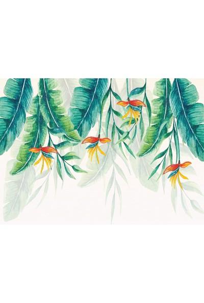 Dijitalya | Tropikal Yapraklar Özel Tasarım Duvar Kağıdı | 12M2