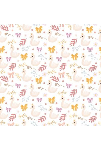 Dijitalya | Sevimli Kuğular Özel Tasarım Duvar Kağıdı 3,16M2