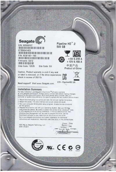Seagate ST3500414CS 500 GB Sabit Hard Disk 180TB/YIL