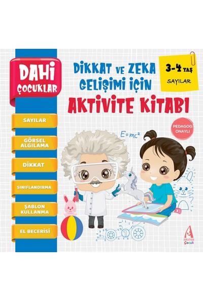 Arunas Yayıncılık Pedagog Onaylı Sayılar Dahi Çocuklar Aktivite Kitabı 3-4 Yaş