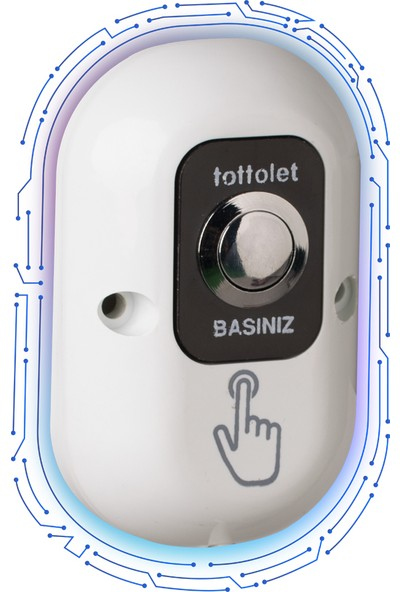Tottolet Akülü Butonlu Otomatik Hijyenik Klozet Kapak Sistemi Paketi 15 adet Rulo