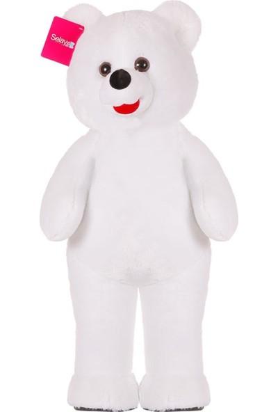 Selay Toys Eros Ayakta Büyük Boy Peluş Ayı Oyuncak 138 cm Beyaz 1084