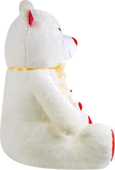 Selay Toys Büyük Boy Peluş Gülen Yavrulu Ayı Oyuncak 95 cm 1085
