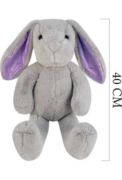 Selay Toys Peluş Salaş Tavşan Nordik Tavşan Oyuncak 40 cm Gri 1552