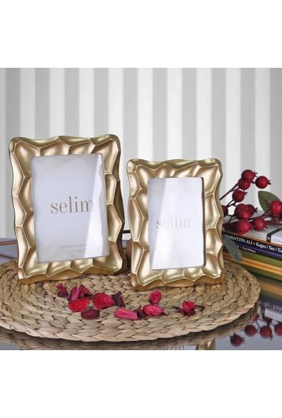 Selim 13X18 Telles Çerçeve Altın