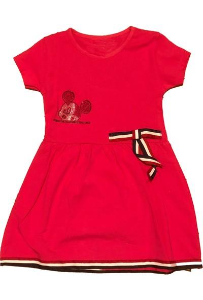 Pomegranate Kız Çocuk Şeritli Pul Detaylı Elbise