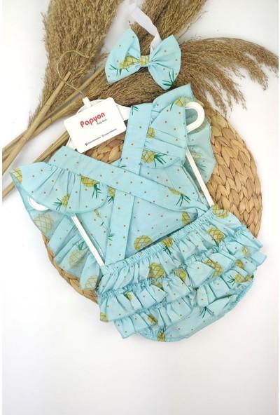 Papyon Baby Kids Kız Bebek Meyveli Fırfırlı Romper Tulum