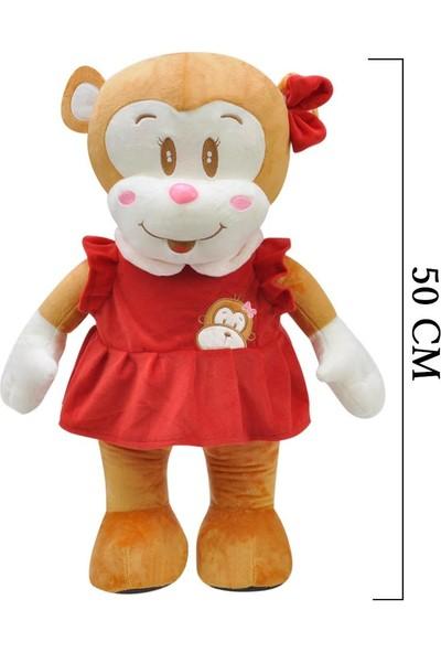 Selay Toys Ayakta Peluş Maymun Oyuncak Cuci 50 cm 1364