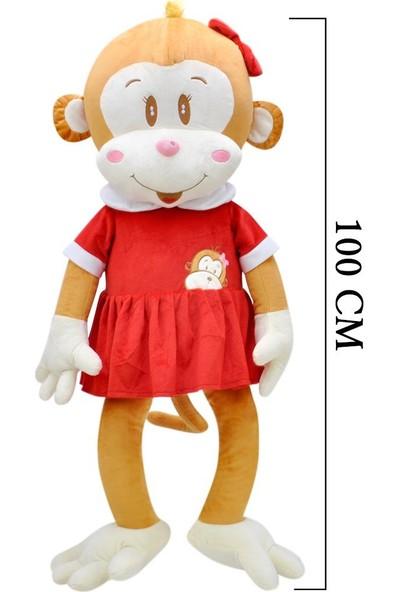 Selay Toys Peluş Maymun Cuci Oyuncak 100 cm 6885