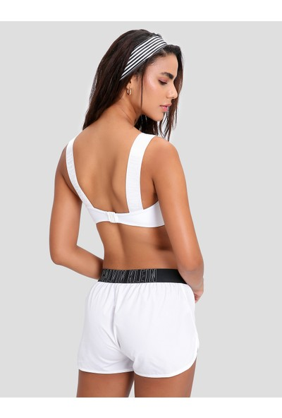 Calvin Klein KW0KW00567 Beyaz Bandaj Kesim Bikini Üstü