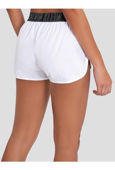 Calvin Klein KW0KW00701 Beyaz Dokuma Koşucu Şort