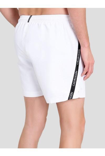 Calvin Klein KM0KM00285 Beyaz Erkek Mayo Şort