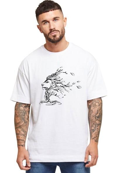 Grif King Baskılı Oversize Erkek T-Shirt