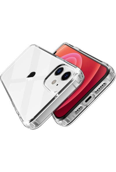 Buff Apple iPhone 12 / 12 Pro Air Hybrid Kilif Crystal Clear BLG01