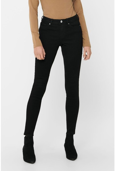 Only 15220118 Kadın Onlwauw Life Mid Sk Bb BJ165 Noos Denim Pantolon