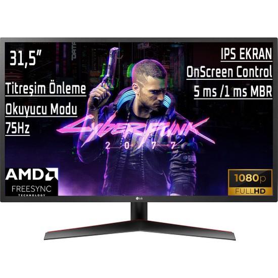"LG 32MP60G-B 31.5"" 75Hz 5ms (HDMI+Display) Freesync™ Full HD IPS LED Monitör"