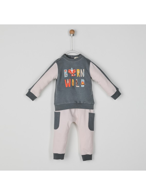 Panço Erkek Bebek 2'li Eşofman Takım 2021BB17009