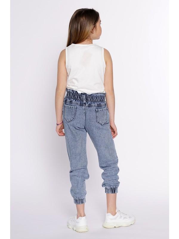 Zepkids Kız Çocuk Kot Pantolon Beli ve Paçası Lastikli 8-16 Yaş