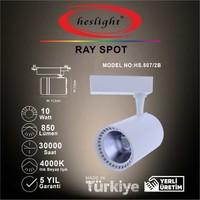 Heslight HS.507/2B 10W Cob LED Ray Spot Beyaz 4000K Ilık Beyaz Işık