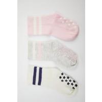 DeFacto Kız Bebek 3'lü Soket Çorap