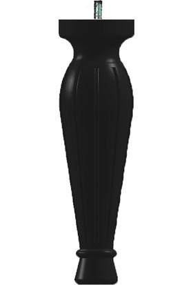 Ahşap Mobilya Ayak 21 x 6 cm - Mat Siyah