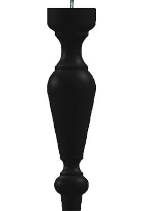 Ahşap Mobilya Ayak 25 x 6 cm - Siyah