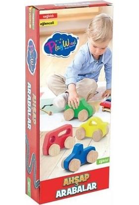 Onyıl Oyuncak Eğitici 4'lü Renkli Ahşap Araba Seti
