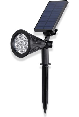 Akar 7 Watt LED Solar Bahçe Armatürü Yeşil Işık