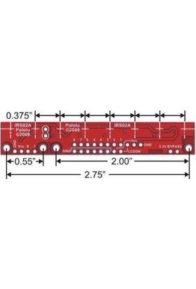 Pololu QTR-8A 8'li Kızılötesi Sensör - Analog - PL-960