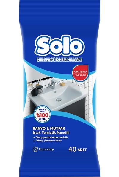 Solo Mutfak & Banyo Islak Temizleme Mendili 40'lı