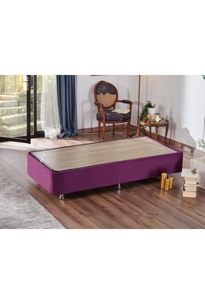 Niron Yatak Niron Purple Baza - 90X200 cm Tek Kişilik Sandıklı Mor Kumaş Baza Silinebilir Soho Kumaş