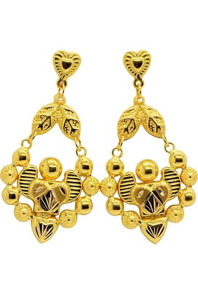 Cigold 22 Ayar Altın Taşsız Fantezi Küpe K2KÜP0334025685