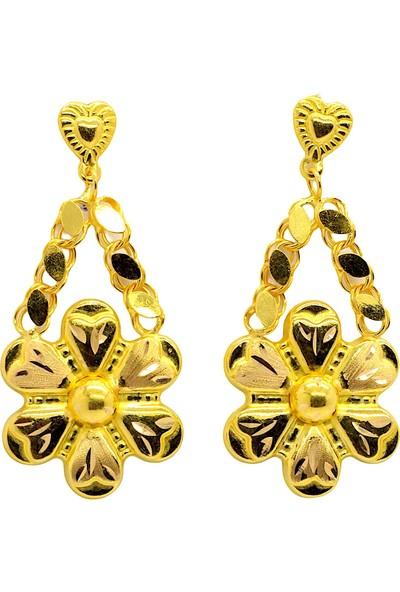 Cigold 22 Ayar Altın Taşsız Fantezi Küpe K2KÜP0385025686