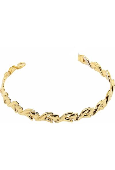 Cigold Cigold 14 Ayar Altın Taşsız Bileklik 19K2BLK0509015853