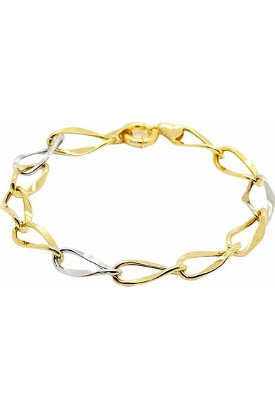 Cigold Cigold 14 Ayar Altın Taşsız Bileklik 20K2BLK0471015857